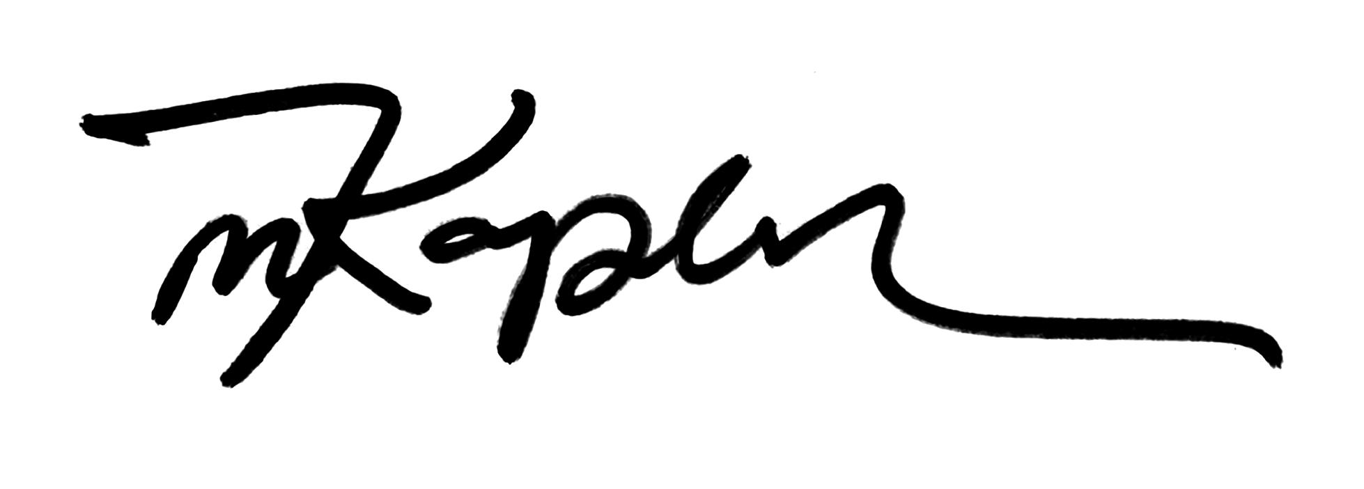 Handwritten signature Michael Kaplan